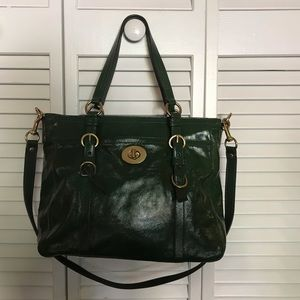 Coach Chelsea Olive Patent Leather Tote